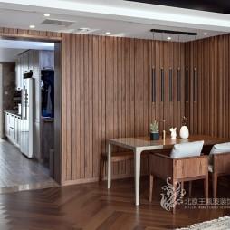 现代风格三居餐厅设计实景图