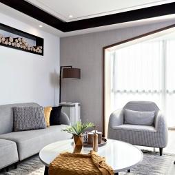 现代风格三居客厅茶几图