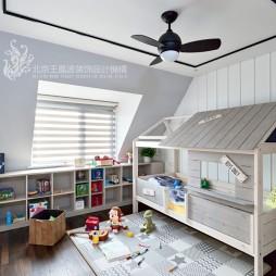 现代风格三居儿童房实景图片