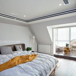 现代风格三居主卧室设计