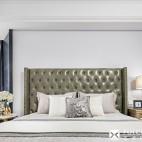 轻奢美式风卧室实景图片