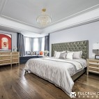 轻奢美式风卧室实景图