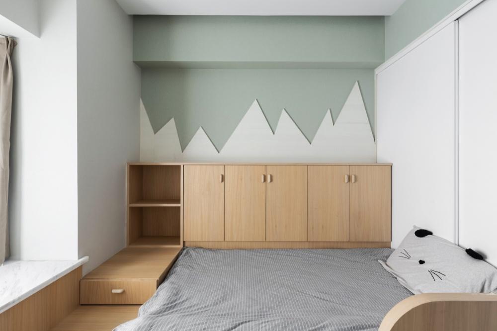 Donuts北欧风次卧设计图卧室床头柜北欧极简卧室设计图片赏析