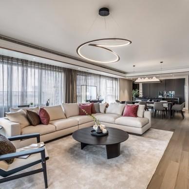 轻奢新中式客厅吊灯图片