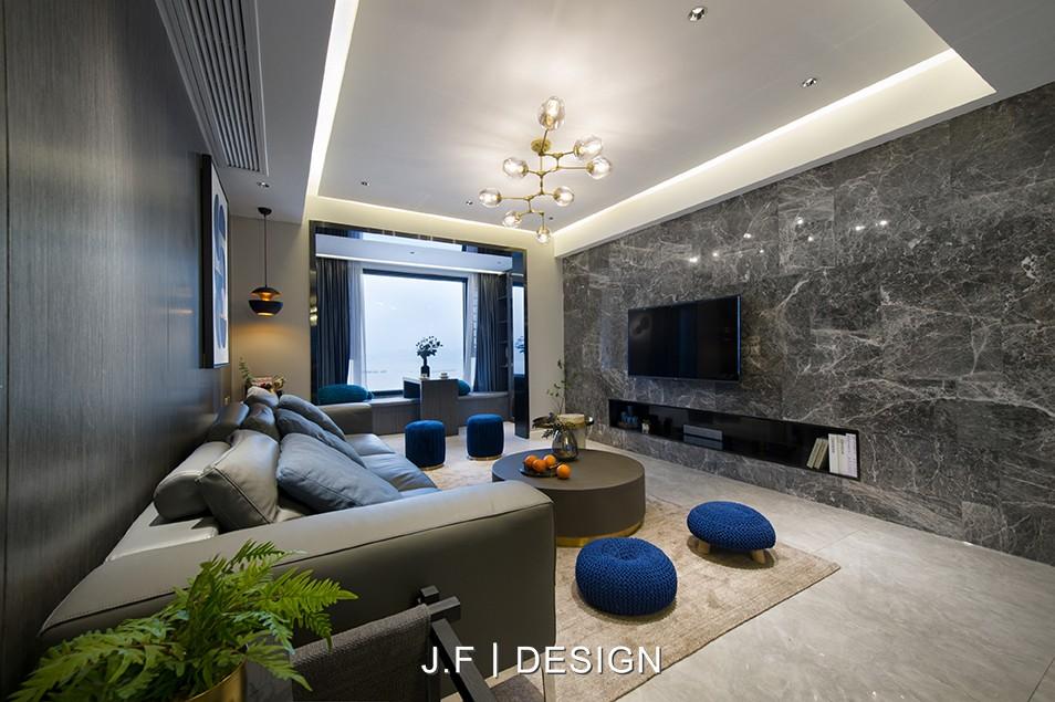 舒适现代风客厅吊灯图客厅现代简约客厅设计图片赏析
