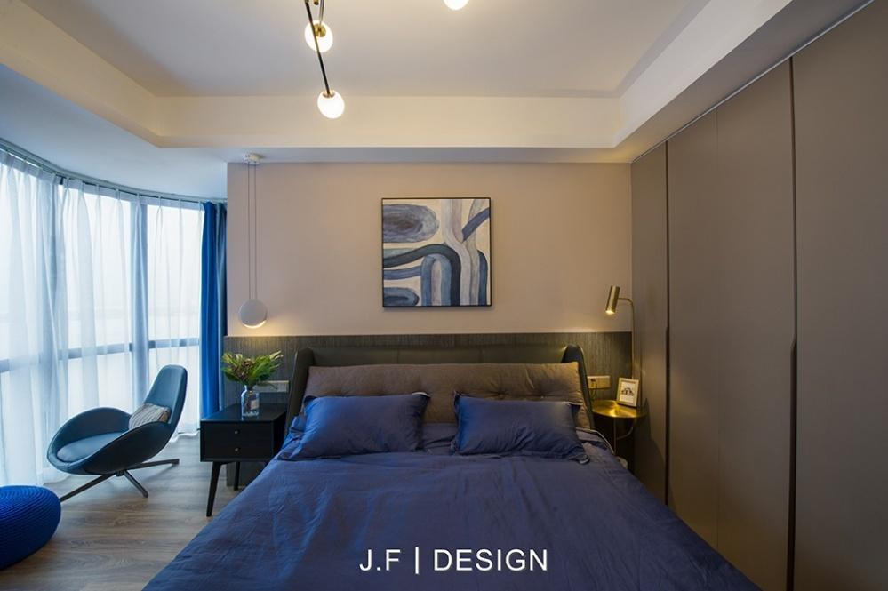 舒适现代风次卧设计图卧室衣柜现代简约卧室设计图片赏析
