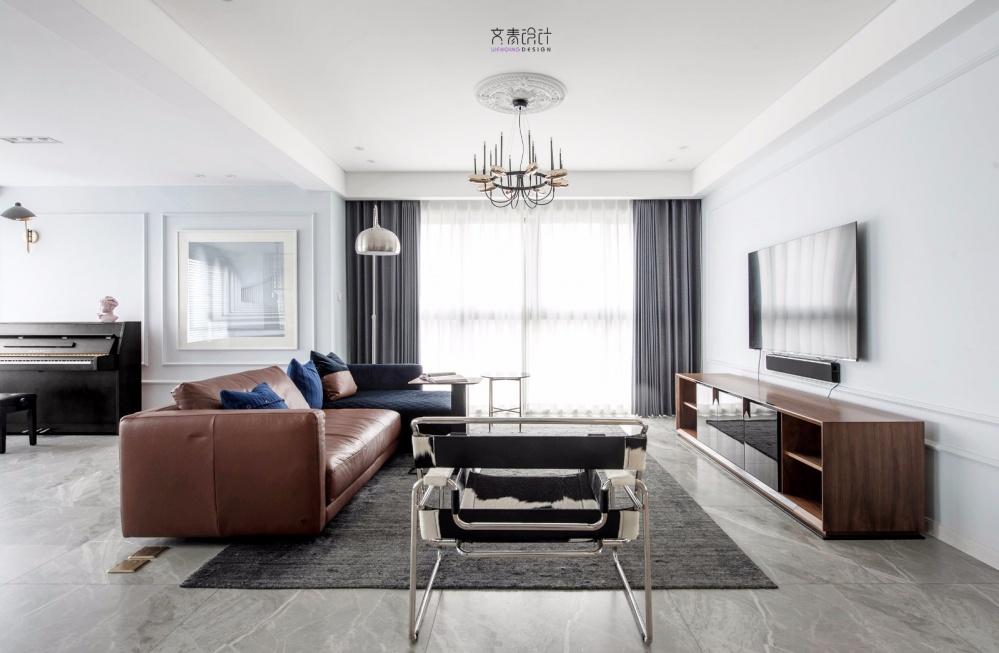 现代复古客厅吊灯图片客厅现代简约客厅设计图片赏析