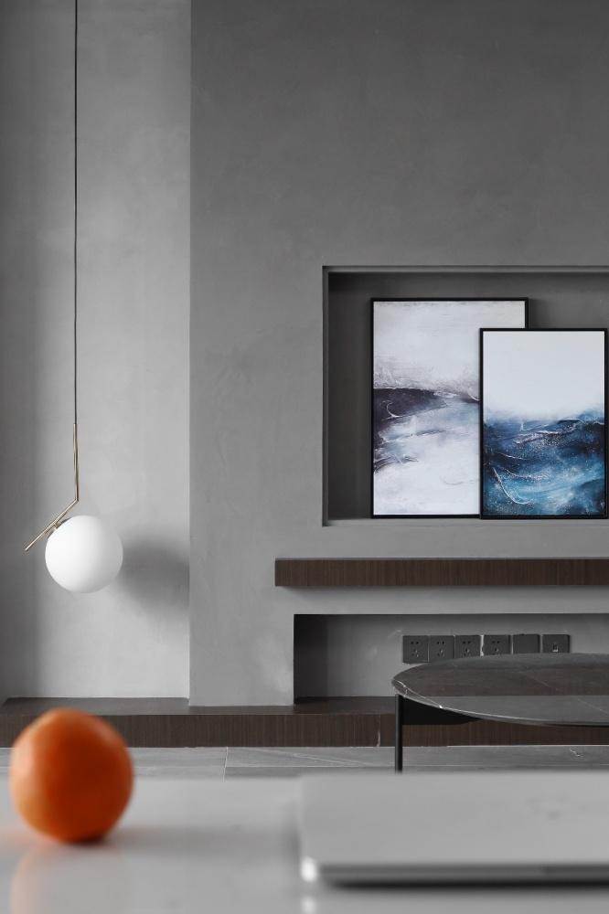 简单现代风客厅吊灯实景图片客厅1图现代简约客厅设计图片赏析