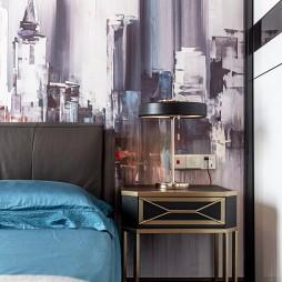 金属混搭风卧室床头柜设计