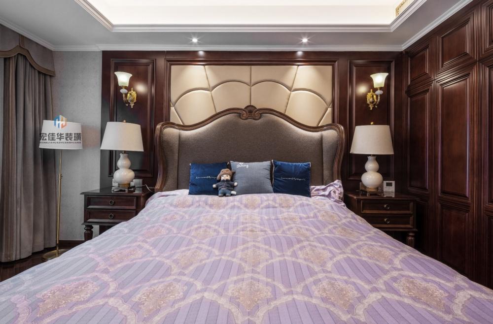 柔和美式风卧室床头灯图片卧室美式经典卧室设计图片赏析