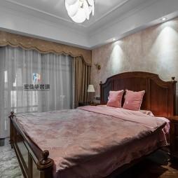 柔和美式风次卧设计