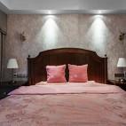 柔和美式风次卧室设计图