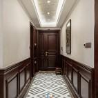 柔和美式风走廊设计
