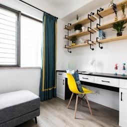 北欧风三居书房隔板设计