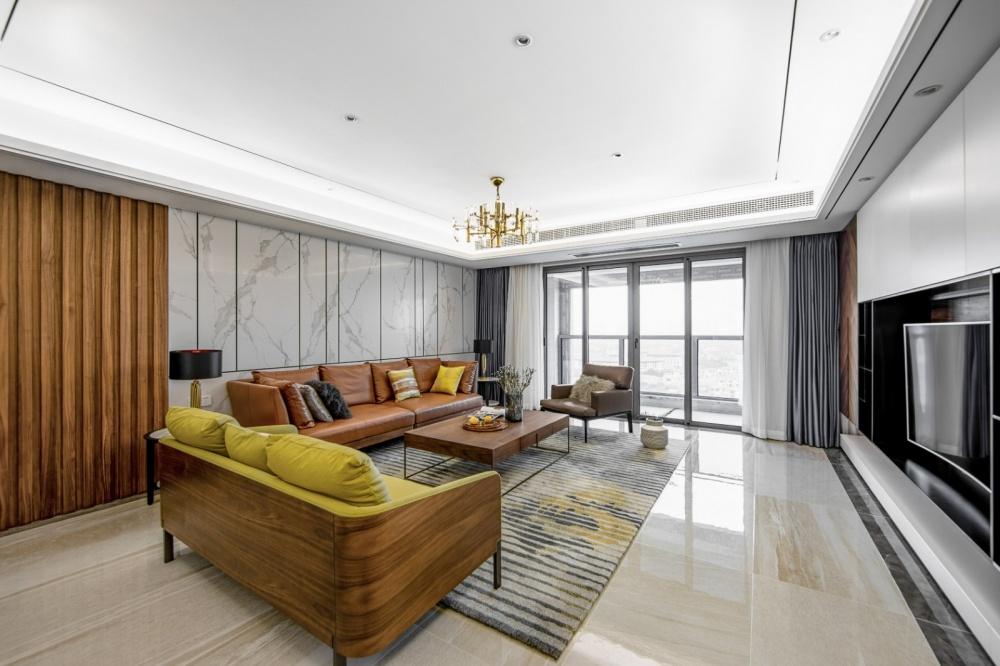 """隐形收纳:他家柜子就像""""全面屏""""客厅现代简约客厅设计图片赏析"""