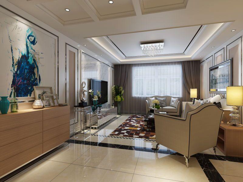 Elaine作品渭城区202所简约风格客厅现代简约客厅设计图片赏析