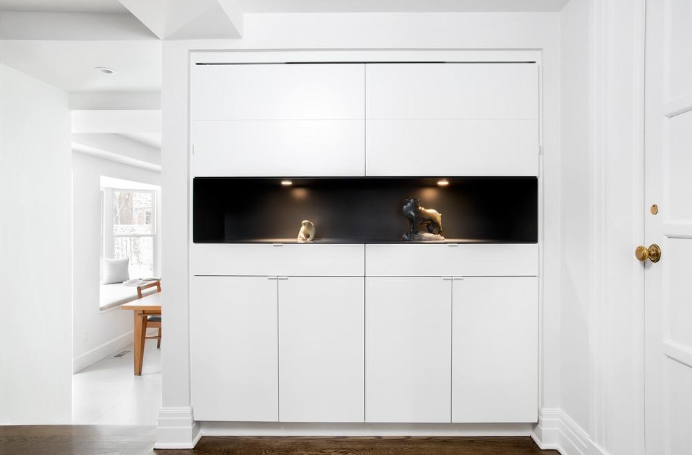 美国单身公寓装修效果图白色玄关玄关现代简约玄关设计图片赏析