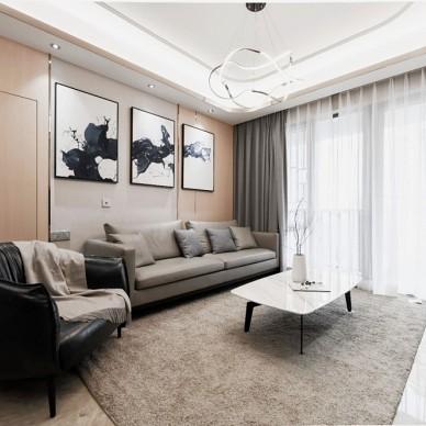 轻奢港式风客厅沙发背景画图片