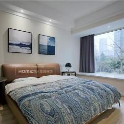 现代简约风主卧室设计实景图片