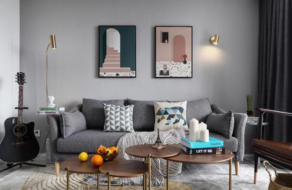 观恒设计|原地腾转挪移,空间增加不只一点客厅潮流混搭客厅设计图片赏析