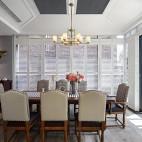 美式经典风餐厅吊灯图片