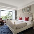 美式经典风主卧室实景图