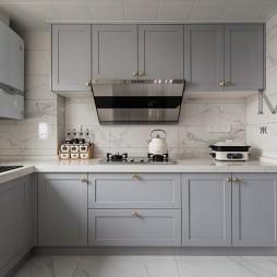 现代美式厨房设计实景图