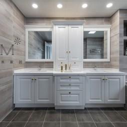 现代美式洗手台设计图