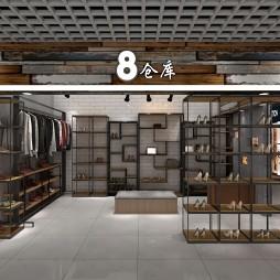 工业风服装店设计_3618499