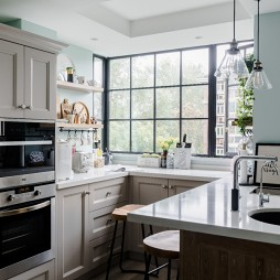 精致极简风厨房实景图片