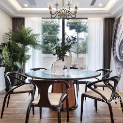 现代简约别墅豪宅餐厅实景图