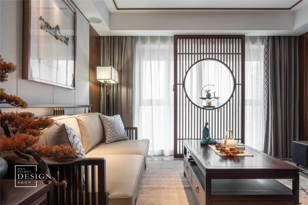 方圆之间,只道寻常客厅中式现代客厅设计图片赏析