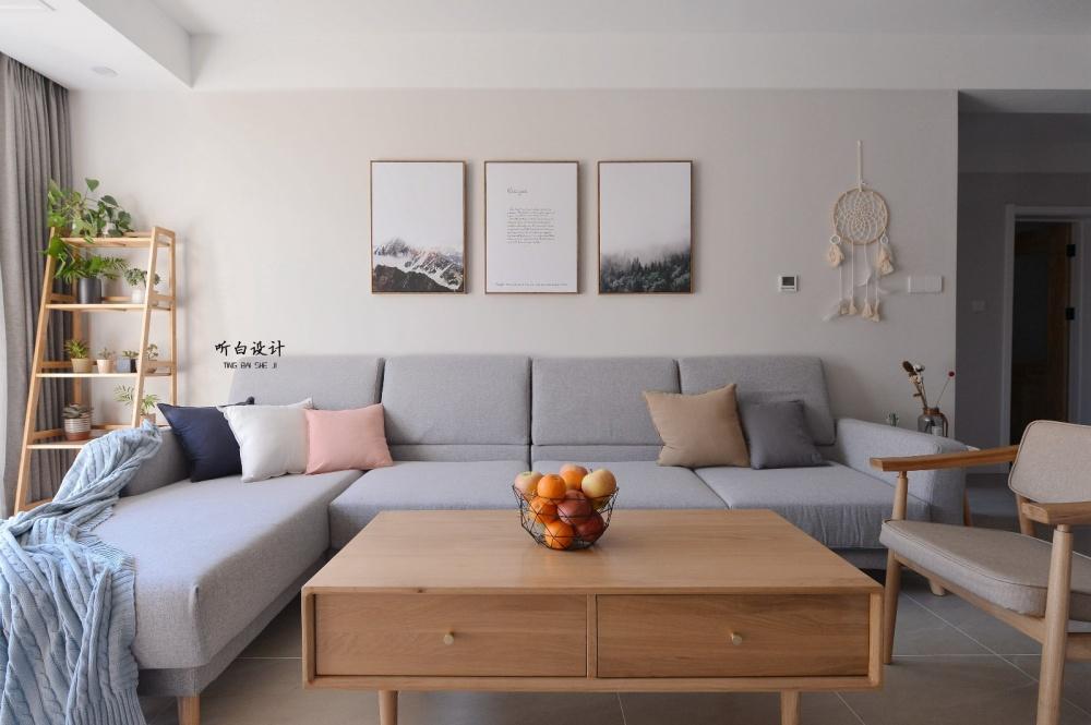听白设计最新作品秋天的family客厅2图北欧极简客厅设计图片赏析