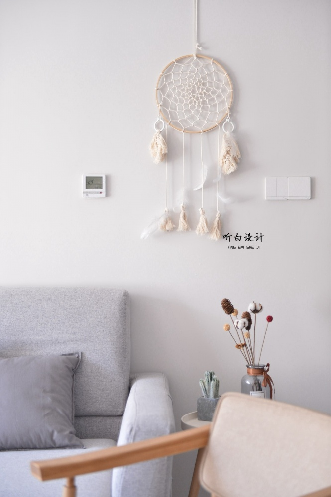 听白设计最新作品秋天的family客厅3图北欧极简客厅设计图片赏析