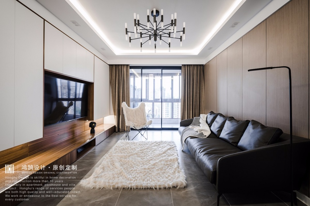 现代北欧风,他家电视墙实用到不行!卧室北欧极简卧室设计图片赏析