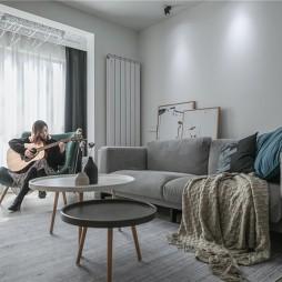 90㎡北欧极简风客厅沙发图