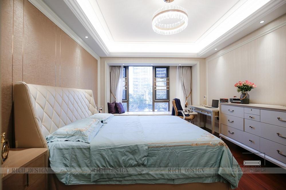 恒裕滨城实景图卧室现代简约卧室设计图片赏析
