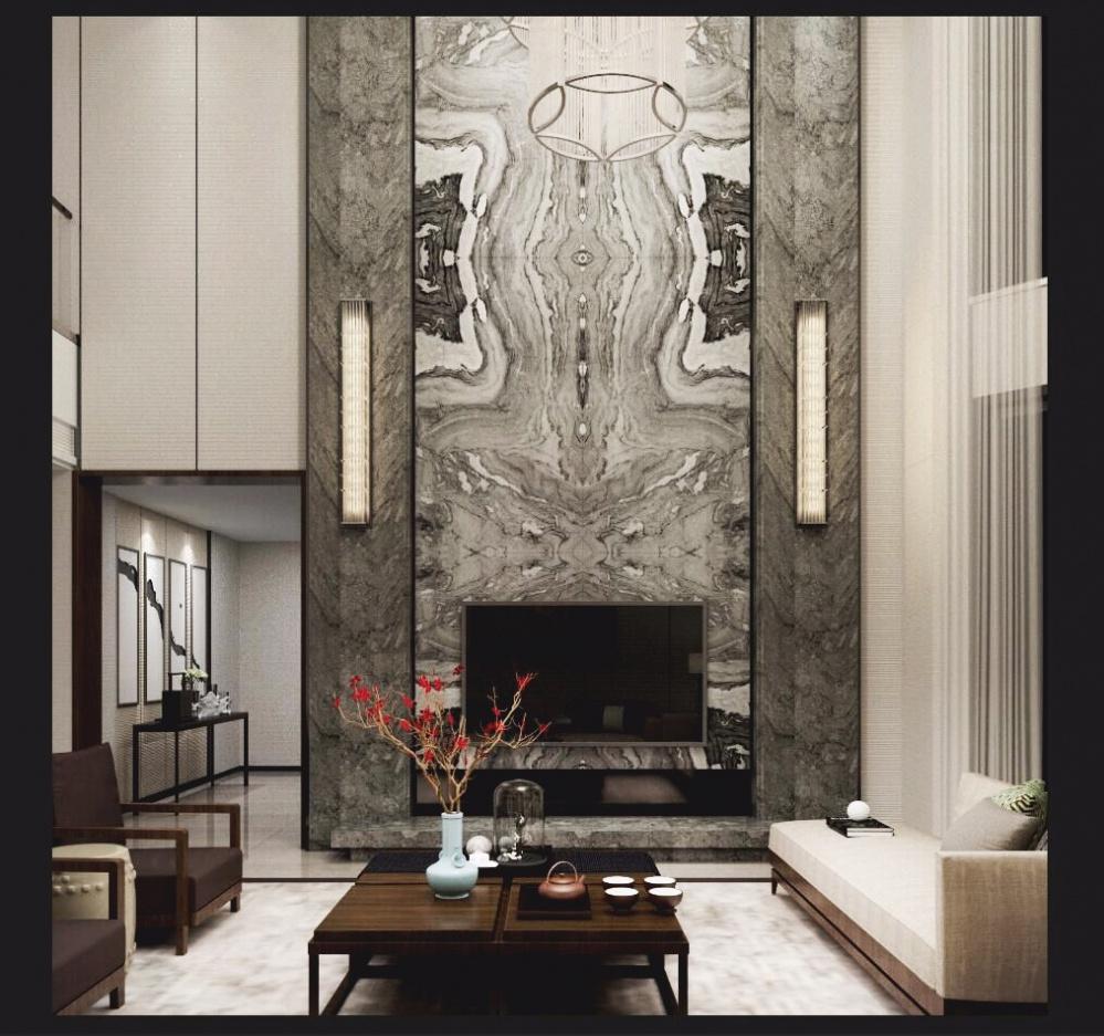 金臻国际 开元云顶佳苑私宅客厅中式现代客厅设计图片赏析