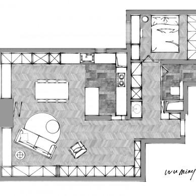 把精裝房拆成毛坯,打造出會變形的客廳_3625051