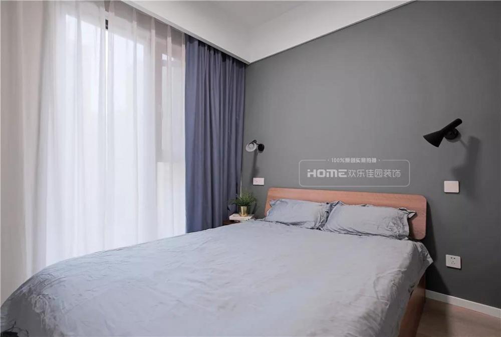 欢乐佳园装饰|灰色+粉色都市人的一剂**卧室1图北欧极简卧室设计图片赏析