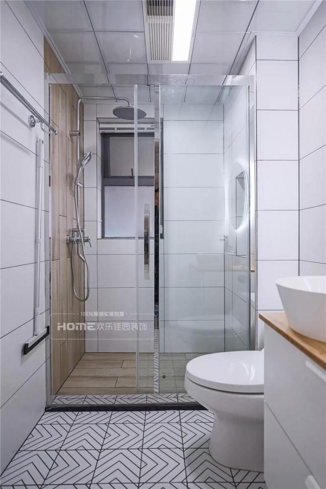 欢乐佳园装饰|灰色+粉色都市人的一剂**卫生间1图北欧极简卫生间设计图片赏析