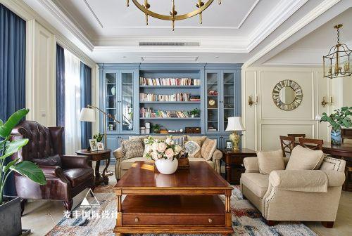 简美合景·叠彩园客厅沙发复式美式经典家装装修案例效果图