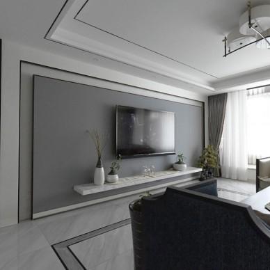 新中式客廳背景墻設計圖