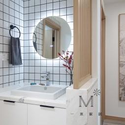 日系风卫生间洗手台设计