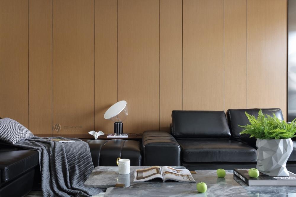 一面温润·一面冷峻客厅现代简约客厅设计图片赏析