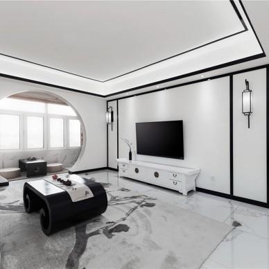 153㎡徽派中式风客厅设计