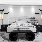 153㎡徽派中式风沙发背景墙设计