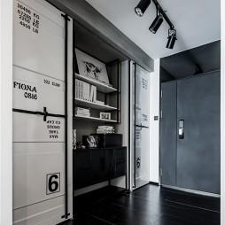 黑白灰工业风衣帽间设计图