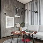 现代灰色系客厅实景图