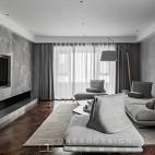 现代灰色系客厅实景图片